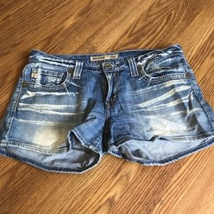 Big star Casey low rise fit bleached denim shorts